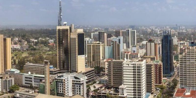 aerial panorama of Nairobi, Kenya